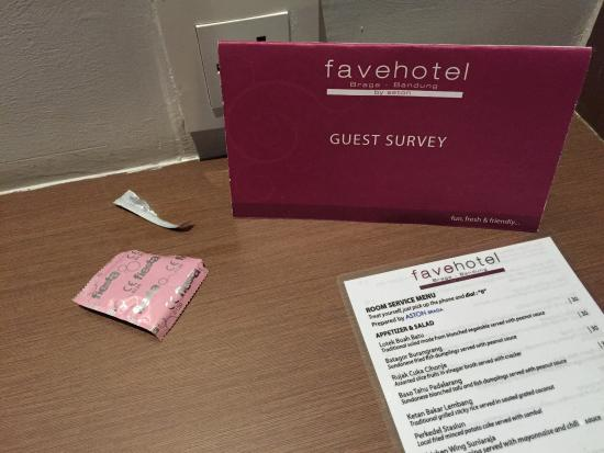 We Found A Condom Wrapper Hidden At The Guest Survey