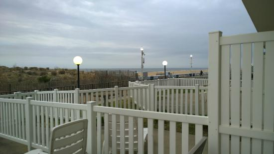 Dunes Court: View from patio RM 124. Partial view of ocean and dune