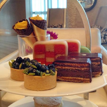 Top tier of the lovely afternoon tea