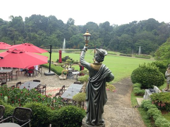 View from upper deck - Picture of Grand Garden Resto & Cafe, Bogor ...