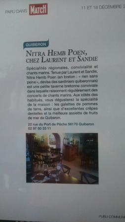 Nitra Hemb Poen : Passer dans le Paris match....