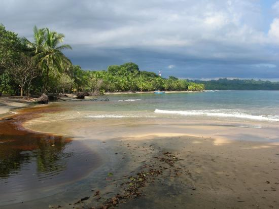 Cabinas Yamann: Strandblick vom Refugio in Richtung Manzanillo