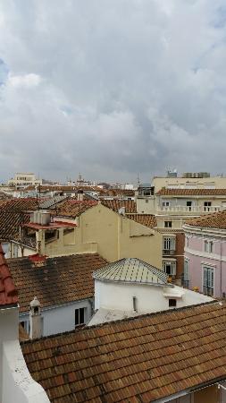 Don Curro Hotel: Vue des toits de Malaga de la chambre 511