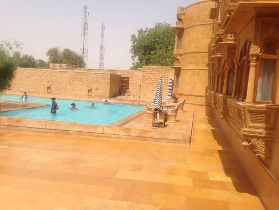 Reception picture of hotel golden haveli jaisalmer - Jaisalmer hotels with swimming pool ...