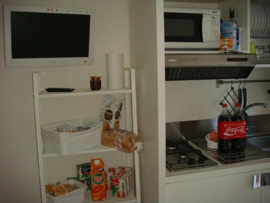 Minisuite B&b/appartments: Kitchen & breakfast