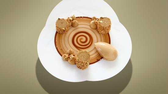 Café moka, biscuit caramel-ristretto (Restaurant Bayview)