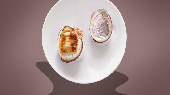 Ormeaux de Plougastel snackés, longeole traditionnelle (Restaurant Bayview)