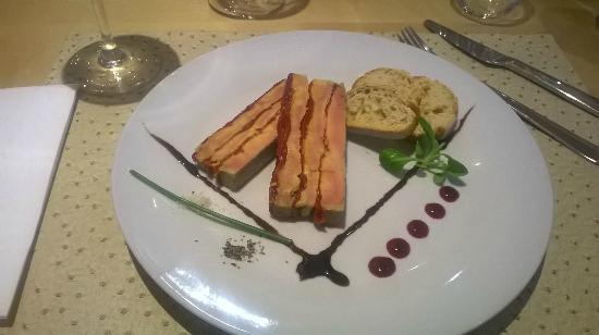 L'ardoise: Foie gras au poivrons rotis
