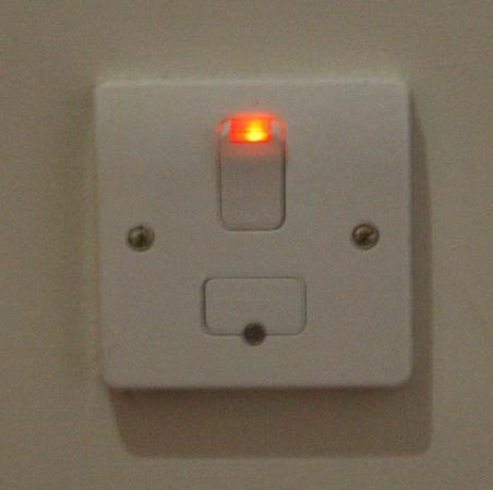 Travelodge Dublin Airport South Hotel: A mystery electric switch in Room 423 - doesn't seem to operate anything!