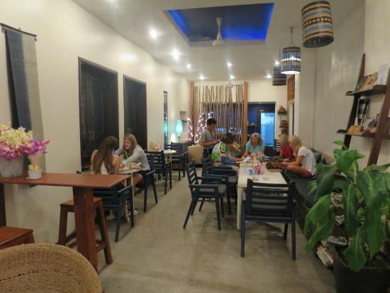 Indigo House: The dining area