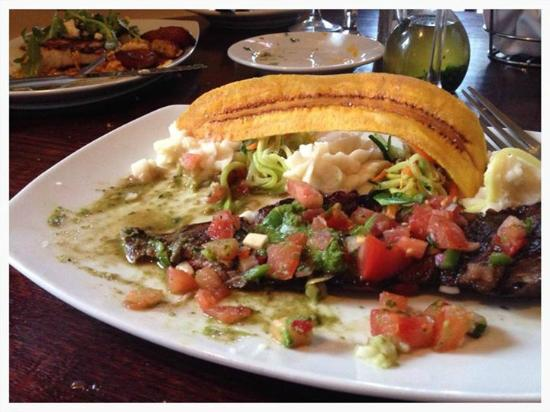 Melaza Bistro : Skirt Steak, Chimichurri, Pico de Gallo and whipped potatoes