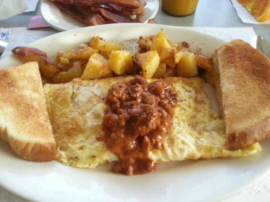 Chili cheese omelet - Picture of Kenny's Korner Inn, Redington Shores ...