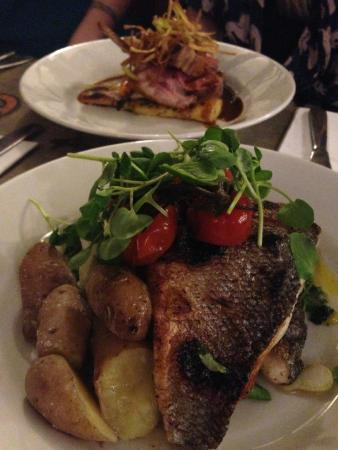 The Feathers Inn: The Sea-bass