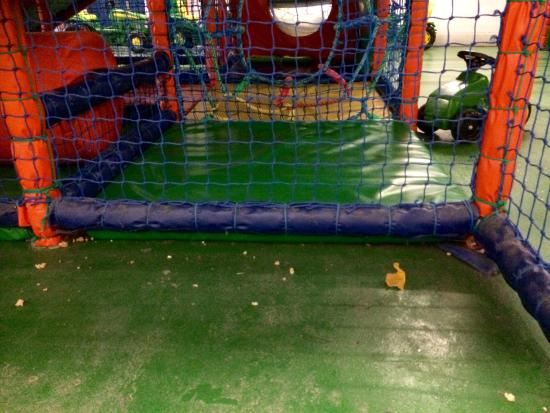 Rufty Tuftys: The inaccessible parts of the play frame need a clean!