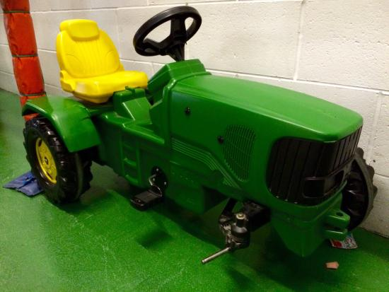 Rufty Tuftys: A damaged tractor but, to be fair, the ride on tractors and other vehicles have been recently re