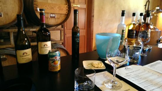 Charbay Winery & Distillery: Some of the offerings at our tasting