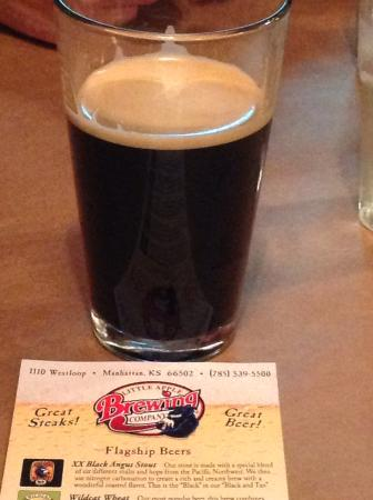 Little Apple Brewing Company: Excellent tasting stout!