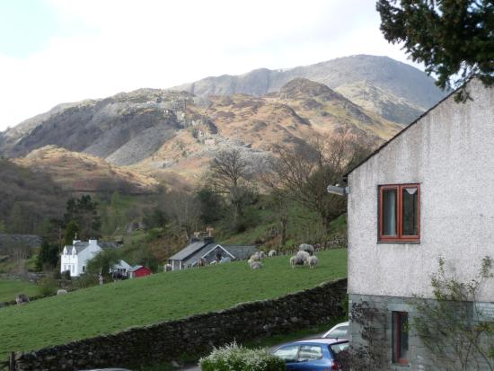a view from the Three Shires Inn
