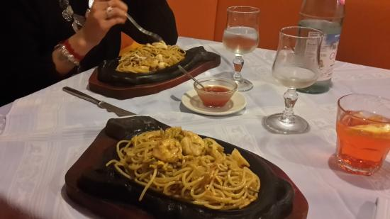 La Giada: spaghetti hai frutti di mare .. il top