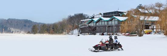 East Gull Lake, MN: Over 1,200 miles of groomed snowmobile trails start at Cragun's Resort on Gull Lake