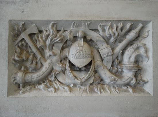 The London Fire Brigade Museum : MFB reliefs.