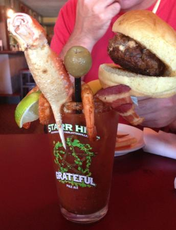 Red Drum Taphouse: The Bloody Mary my friend's husband got!