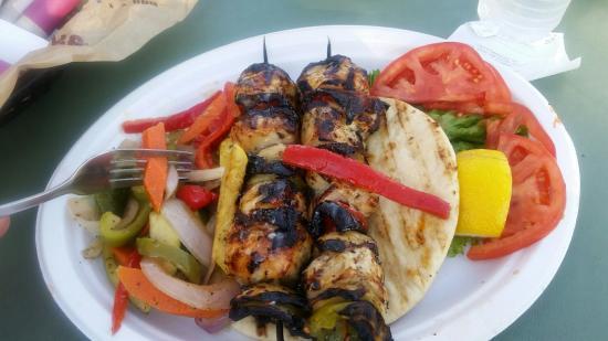 The Patio: Chicken Kabob Was Amazing. Lemon Herb.