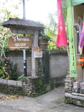 Entrance to Nirvana Pension Ubud Bali.