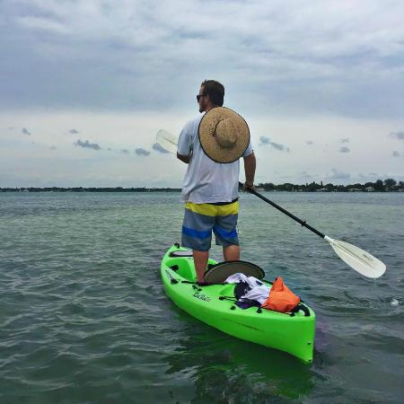 Almost Heaven Kayak Adventures: Our guide scouting out the manatees