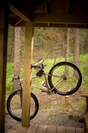 Recycled Bike Parts Used Throughout Lodge - Picture of