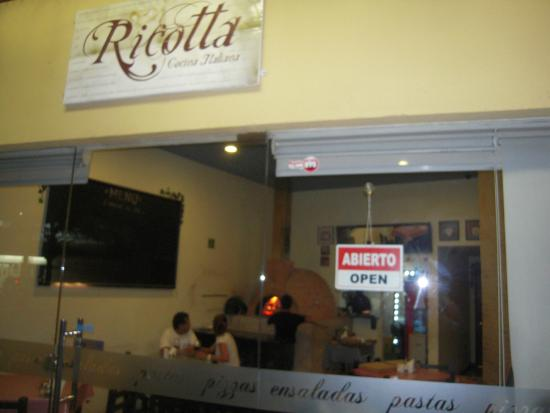 Ricotta: Wood fired oven