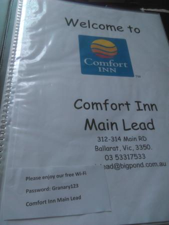 Comfort Inn Main Lead : Comfort Inn Maid Lead: Compendium of Non Existent Services ['Easter weekend' April 2015]
