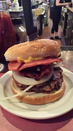 Krug's Tavern: The Taylorham Burger with Bacon