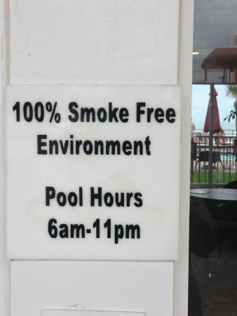 Econo Lodge Oceanfront: This is a farce. Smoking is allowed all over the property and they won't do anything about it.