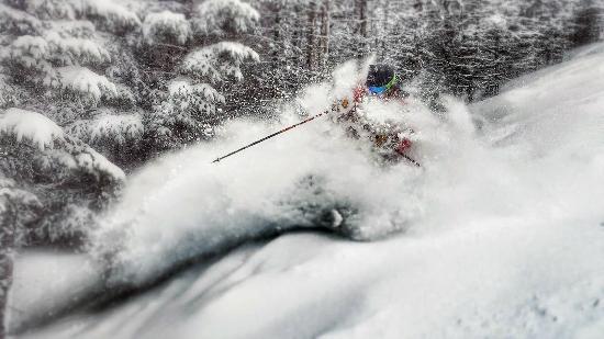 Saddleback Maine: Untracked runs all day on powder days!
