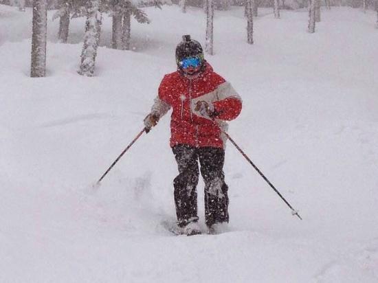 Saddleback Maine: Skiing Lower Nightmare glade.