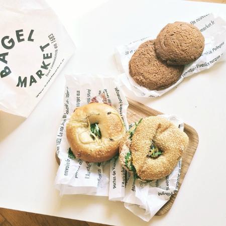 le mayo et le miel cookies chocolat au lait picture of bagel market paris tripadvisor. Black Bedroom Furniture Sets. Home Design Ideas