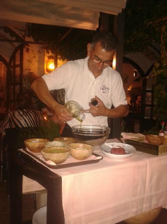 Restaurante Casa Rustica: fantastica preparacion del tartar