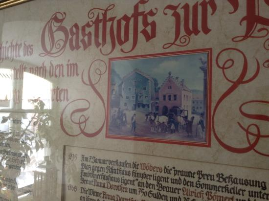 Breitenbrunn, Германия: History of Gasthof Zur Post