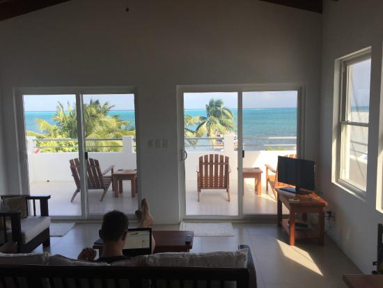 Living room with a view Picture of Weezies Ocean Front Hotel and