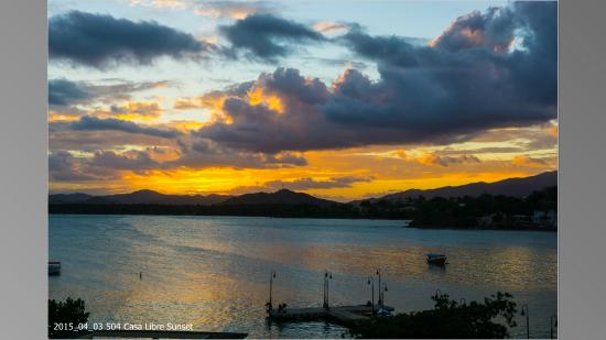 Casa Libre Puerto Rico: Sunset from the pool deck