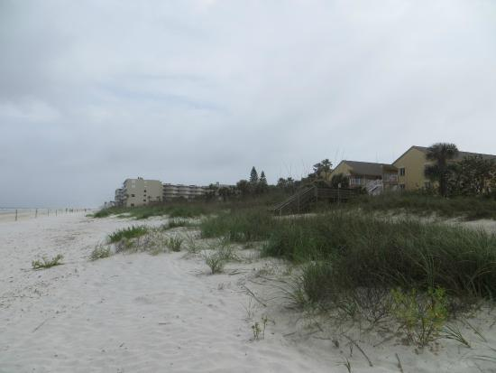 the beach dunes in front of Sea Villas