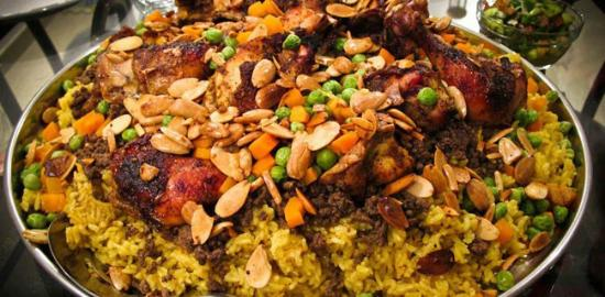 Hiba Express : One of our signature dishes-chicken maqlooba or upside down. Fit for royalty!