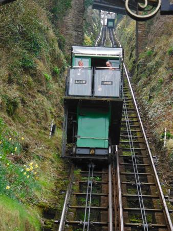 The Seawood Hotel: The funicular railway at the back entrance