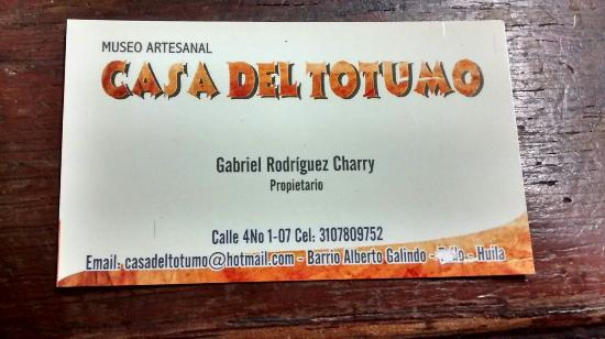 Villavieja, كولومبيا: Contacto