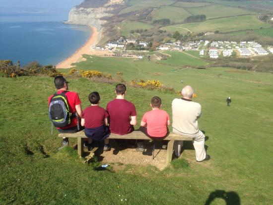 Golden Cap Holiday Park: Looking at the wonderful view of Seatown