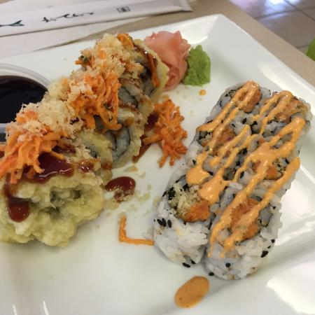 LA Bamba Mexican Restaurant: Sunset Roll and Spicy Tuna Roll