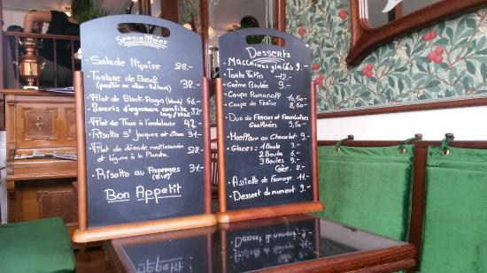 Biel, Switzerland: Menu-Karte
