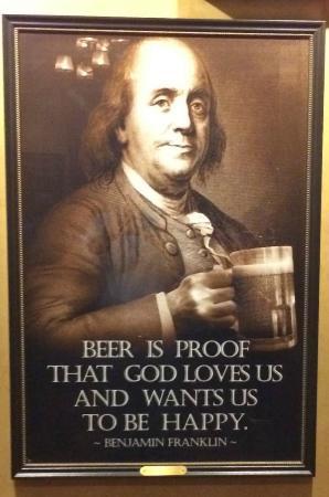 Black Powder Tavern: Ben Franklin's philosophy on beer