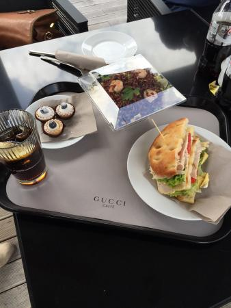 The Mall: Gucci cafe reasonable and good food. Great view of surrounding countryside